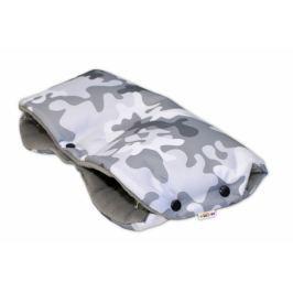 Baby Nellys Rukávník ke kočárku  ® flees - ARMY šedý maskáč