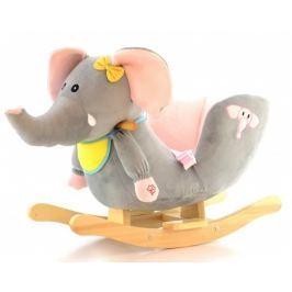 EURO BABY Houpací Slon s melodii - šedý