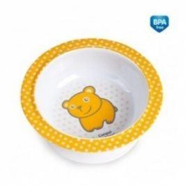 Canpol Babies Melaminová miska s přísavkou  - Medvídek