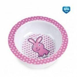 Canpol Babies Melaminová miska s přísavkou  - Zajíček