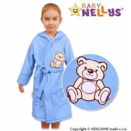 Baby Nellys Dětský župan - Medvídek Teddy Bear, 98/104 - sv. modrý, 104/98 (24-36m)