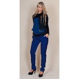 IZABELLA HETNAR Těhotenské kalhoty Karolina - Modré, XS