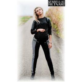 IZABELLA HETNAR Těhotenské kalhoty XENIE  - šedé/grafit, M