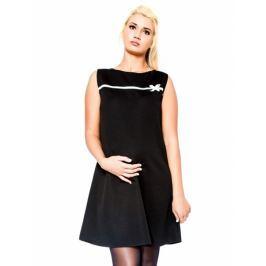 Be MaaMaa Těhotenské šaty/tunika DIOR - černé, S/M