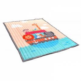 Kidsee Koberec - hrací deka - Zvířatka na lodi