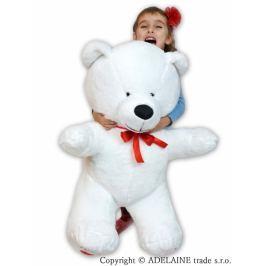 Baby Nellys Plyšový Medvěd XXL  I LOVE - bílý