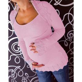 Dovoz EU Těhotenský svetřík s bolerkem - růžový