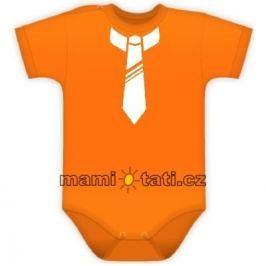Vyrobeno v EU Body kr. rukávek s potiskem kravaty - pomeranč, 92 (18-24m)