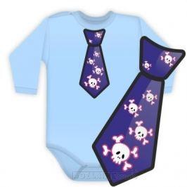 Vyrobeno v EU Body dlouhý rukáv kravata COOL - sv. modré, 74 (6-9m)