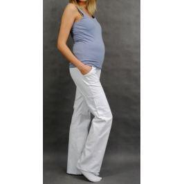 Dovoz EU Těhotenské kalhoty s boční kapsou - bílá, XXL