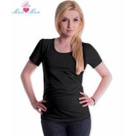 Be MaaMaa Triko JOLY bavlna nejen pro těhotné - černé, L/XL