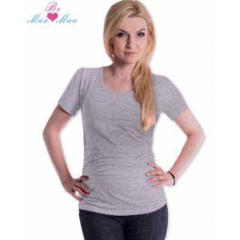 Be MaaMaa Triko JOLY bavlna nejen pro těhotné - šedý melír, L/XL