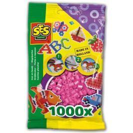 SES Zažehlovací korálky - růžové 1000 ks