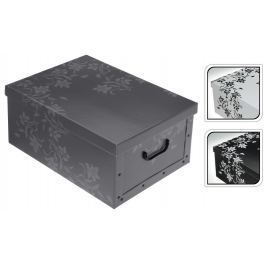 EXCELLENT Úložný box dekorativní 51x37x24cm šedá