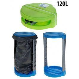 EXCELLENT Stojan s poklopem plastový na pytle 120 l, zelená