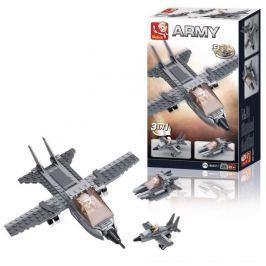 SLUBAN stavebnice Stíhačka 3 v 1, 125 dílků (kompatibilní s LEGO)
