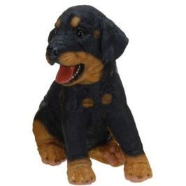 PROGARDEN Zahradní dekorace štěně, rotvajler sedící