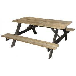PROGARDEN Pivní set / piknikový stůl dřevo