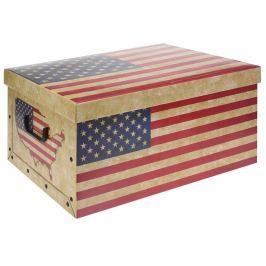 EXCELLENT Úložný box dekorativní vlajka USA & UK