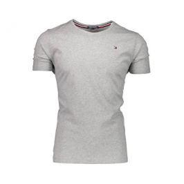 Tommy Hilfiger Pánské triko T-shirt Grey Heather UMOUM00819-004, S