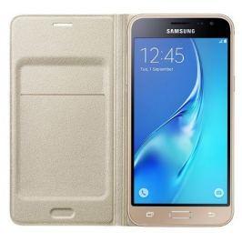 Samsung Pouzdro na mobil flipové  pro Galaxy J3 2016 (EF-WJ320P) - zlaté