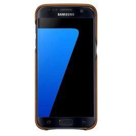 Samsung Kryt na mobil  pro Galaxy S7 kožené (EF-VG930LU) - béžový