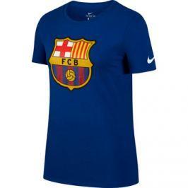Nike Dámské tričko  Evergreen Crest FC Barcelona tmavě modré, M