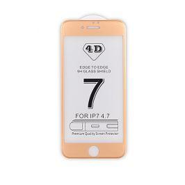4D tvrzené sklo Apple iPhone 7 Gold (FULL GLUE)