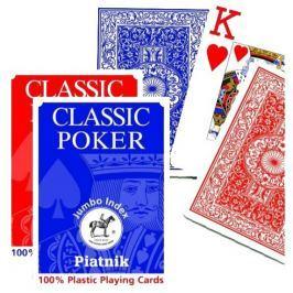 PIATNIK Plastic Poker Jumbo - Plastové hrací karty