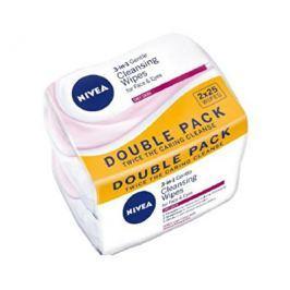 Nivea Jemné pleťové ubrousky pro suchou a citlivou pleť 3v1 Duopack (Cleansing Wipes) 2x25 ks