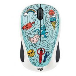 Logitech ® Wireless Mouse M238 - Doodle Collection - BAE-BEE BLUE - EMEA