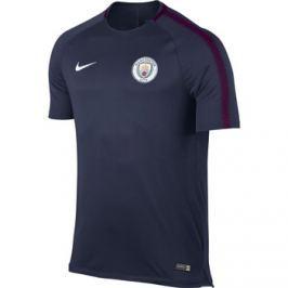 Nike Pánské fotbalové tričko  Breathe Squad Manchester City FC tmavě modré, L