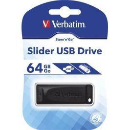 Verbatim 64GB USB Flash 2.0 Slider, , černý