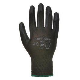 NO NAME Pracovní rukavice máčené na dlani a prstech v polyuretanu, velikost 7, černé