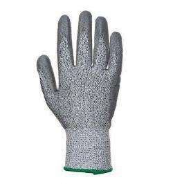 NO NAME Ochranné rukavice, proti pořezání, na dlani namočené do PU, XL Cut 3, šedé