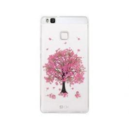 4-OK Flover Cover TPU Huawei P9 Lite, Pink Tree