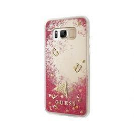 Guess Liquid Glitter TPU Case Galaxy S8+,Rapsberry Pouzdra, kryty a fólie