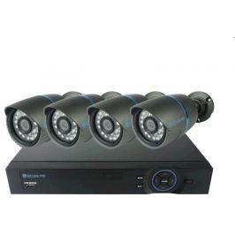 Securia Pro Kamerový set  AHD4CHV1 AHD DVR + 4 analogové kamery - černá