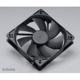 AKASA ventilátor  - 12 cm  - černý - tichý B