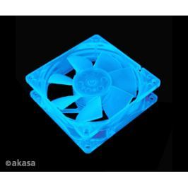 AKASA přídavný ventilátor  8 cm - UV modrý
