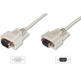 Digitus ASSMANN RS232 Extension cable DSUB9 M (plug)/DSUB9 F (jack) 2m beige