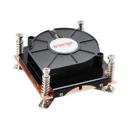 AKASA chladič CPU AK-CCE-7107BP/ skt. 775/1156/1155/ low profile pro 1U