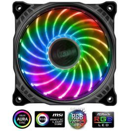 AKASA LED ventilátor Vegas / 120mm / výška 25mm/ 3pin FAN/ 4pin RGB led / RGB LE