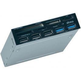 AKASA USB 3.0 čtečka karet s eSata a USB panelem