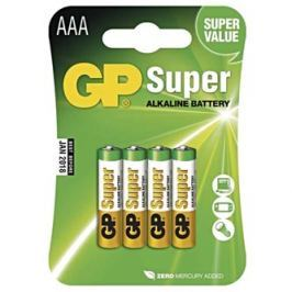 GP Batteries Baterie alkalická, AAA, 1.5V, GP, blistr, 4 pack, SUPER, cena za 1 ks baterie