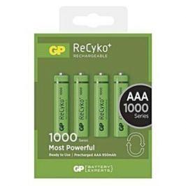 GP BATERIE GP nabíjecí baterie AAA NiMH 1000mAh Recyko+ 4ks blistr