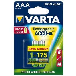 Varta Nabíjecí baterie, AAA (mikrotužková), 2x800 mAh, přednabité,  Longlife Acc