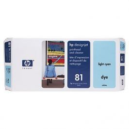 Hewlett - Packard Hlava + čisticí hlava HP 81 light cyan Dye   designjet5500/5500pc5000/5000ps