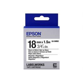 EPSON , Label/LK-5WB2 Magnetic 18mm BK/WH