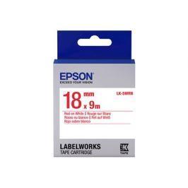 EPSON Label/LK-5WRN Standard 18mm x 9m RD/WH, Label/LK-5WRN Standard 18mm x 9m R